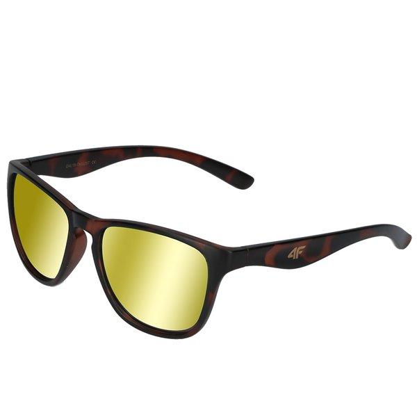 4F - Sonnenbrille DESIGN - REVO Gläser UV 400 - gold brown