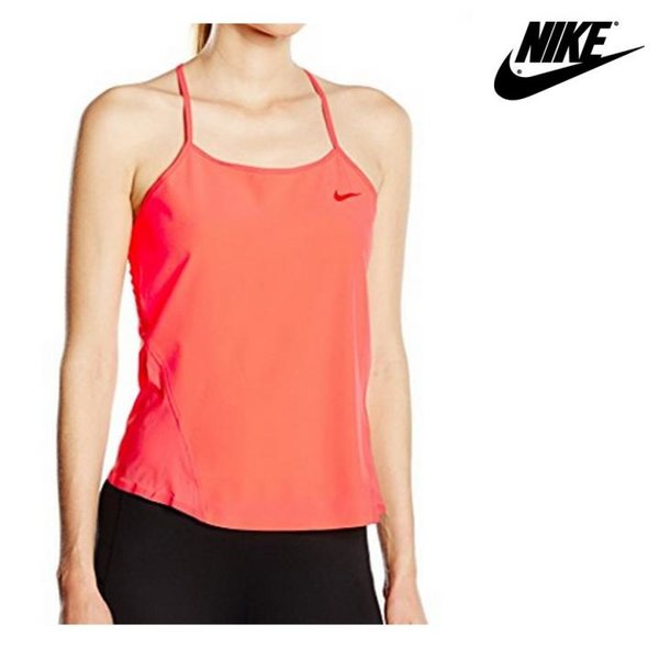 NIKE - Sports Damen T-Shirt Tanktop - Funktionsshirt - coral