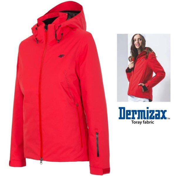 Dermizax 20.000 - Damen 4F Hightech Skijacke TORAY Winterjacke - rot