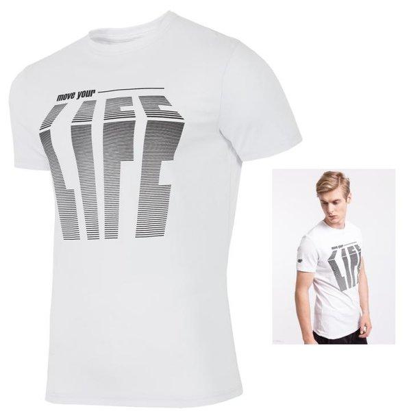 4F- ENJOY LIFE - Herren T-Shirt - weiß