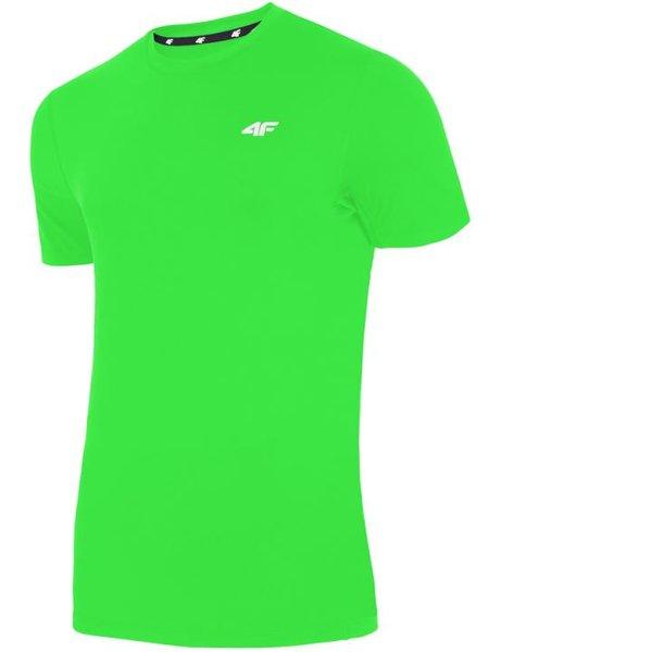 4F - Herren Sport T-Shirt - Sportshirt - neongrün