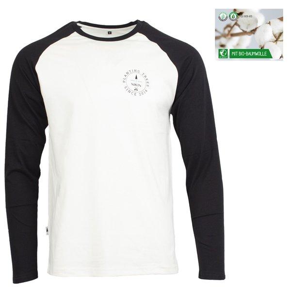 NIKIN - TreeShirt Longsleeve Raglan Circle Bio-Baumwolle, black