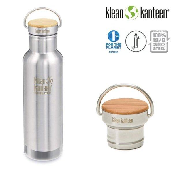 Klean Kanteen - Reflect Vacuum Insulated Trinkflasche Bamboo Cap, 592ml