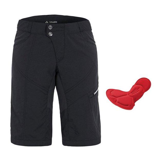 Vaude Damen Hose Women's Tamaro Shorts - Radhose mit Polsterung - schwarz 36 S