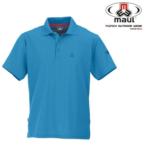Maul - Spiez - antibakterielles Herren Poloshirt - blau