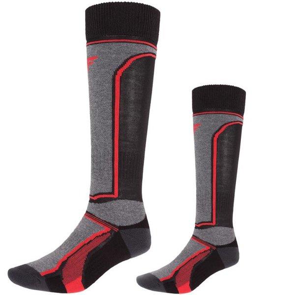 4F - Ski Socken - Unisex Ski- und Snowboardsocken - schwarz