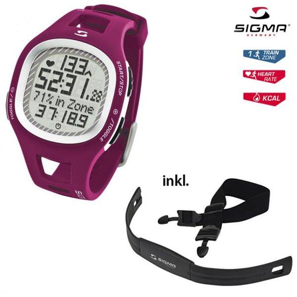 SIGMA - Pulsuhr PC 10.11 Herzfrequenz mit Brustgurt, purple