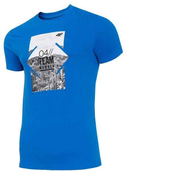 4F - 04 TEAM - Herren T-Shirt Shirt 2019 - blau