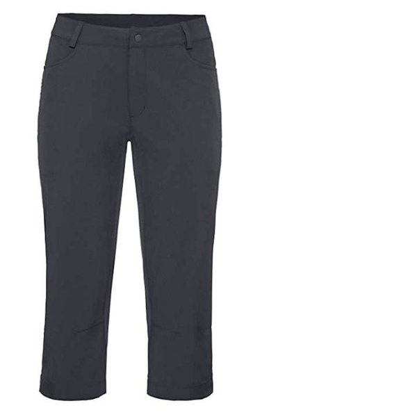 Vaude Damen Radshort Capri Shorts Radhose mit herausehmbarem Innenpolster - schwarz - 40 M/L