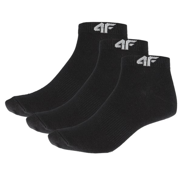 4F - 3er Pack Sportsocken - Herren Socken - schwarz