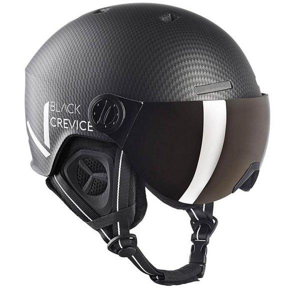 Black Crevice - Sölden- Skihelm mit Visier - weiß carbon matt/schwarz