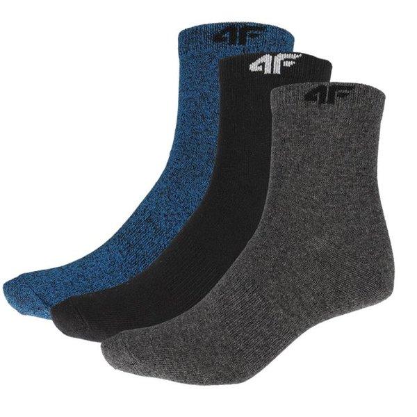 4F - 3er Pack Socken - Herren Sportsocken - schwarz/navy/grau