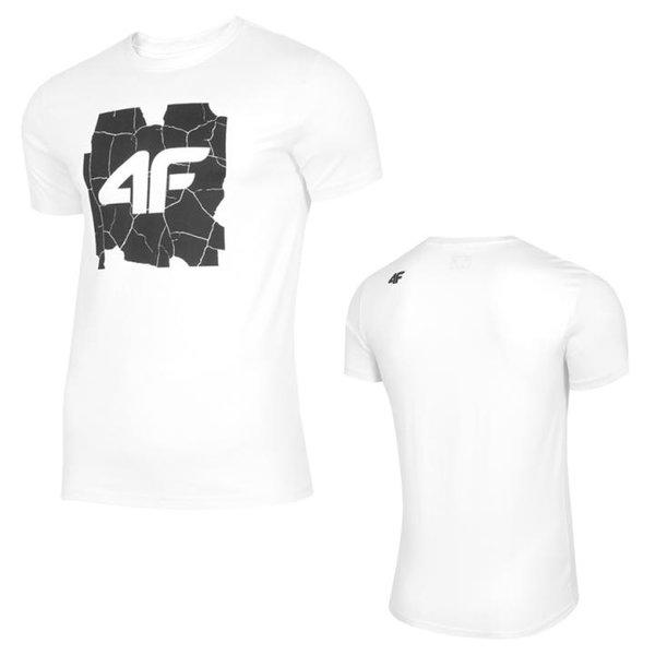 4F - Logo Shirt - Herren T-Shirt - weiß