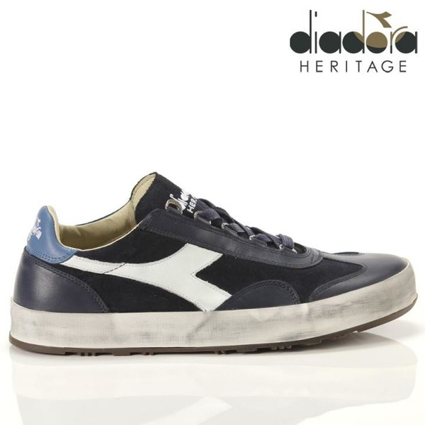 Diadora - B.ORIGINAL H Suede Stone Wash Schuhe Sneaker, navy