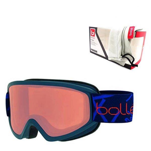 bollé Freeze Skibrille, Winter Brille Anti-Fog, UV Protection, navy matt