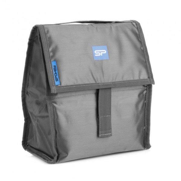 Spokey - THERMAL BAG - große Kühltasche für Flaschen und Essen - grau blau - 25x12x21cm (BLACKFRIDAY