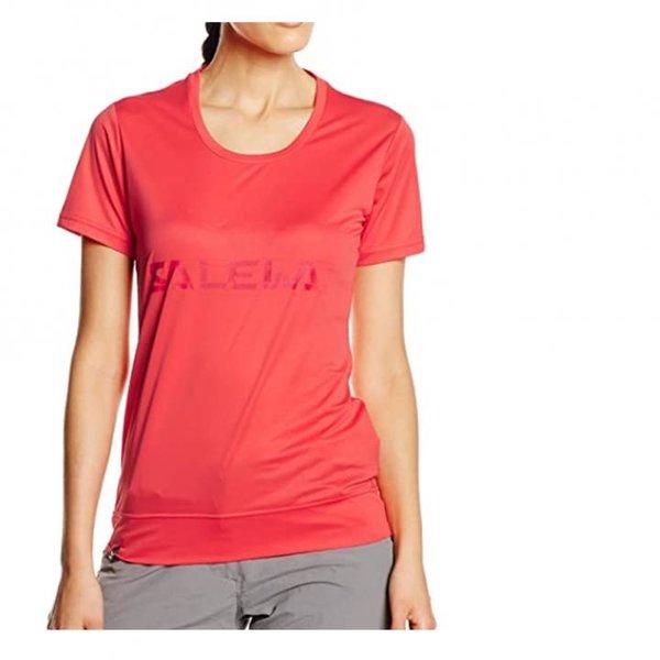 Salewa Puez Mountain Dry W S/S Tee, Shirt Damen T-Shirt, hot coral