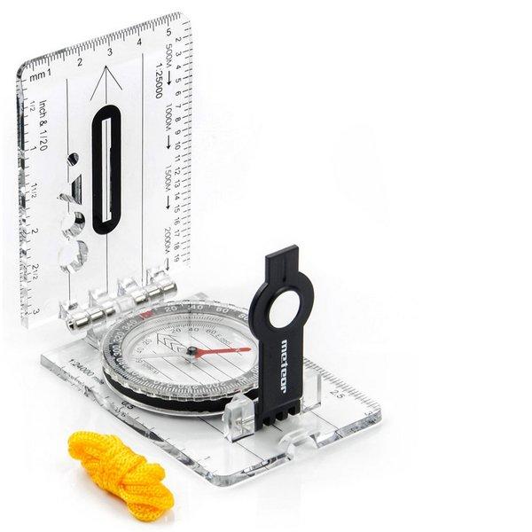 Meteor - Kompass - Marschrichtung Faltkompass mit Vergrößerung - groß