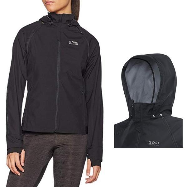 GORE WEAR Damen Essential Windstopper Zip-Off Jacke Sportjacke Weste - schwarz - L 40