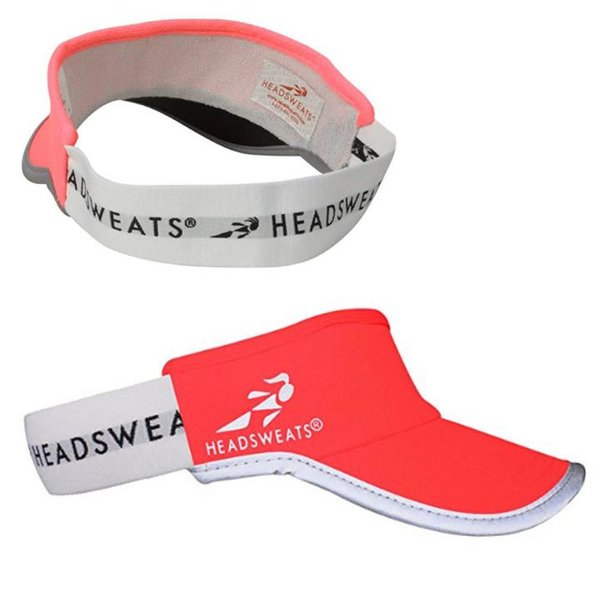 Headsweats Reflective Supervisor High Visibility Schirmband Visor - neon rot