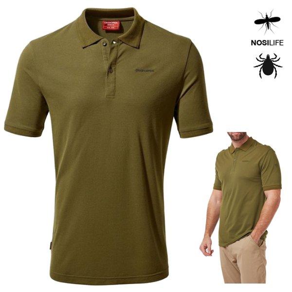 Craghoppers - NosiLife Polohemd Mani mit kurzem Ärmel Polo Shirt, grün