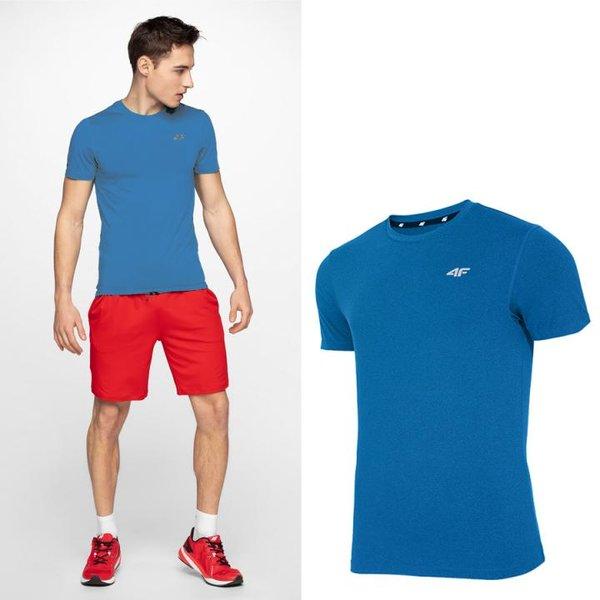 4F - Herren Sport T-Shirt - blau
