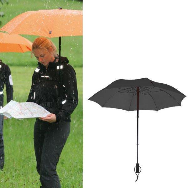 EuroSCHIRM - Göbel - Regenschirm Trekkingschirm - teleScope handsfree, schwarz