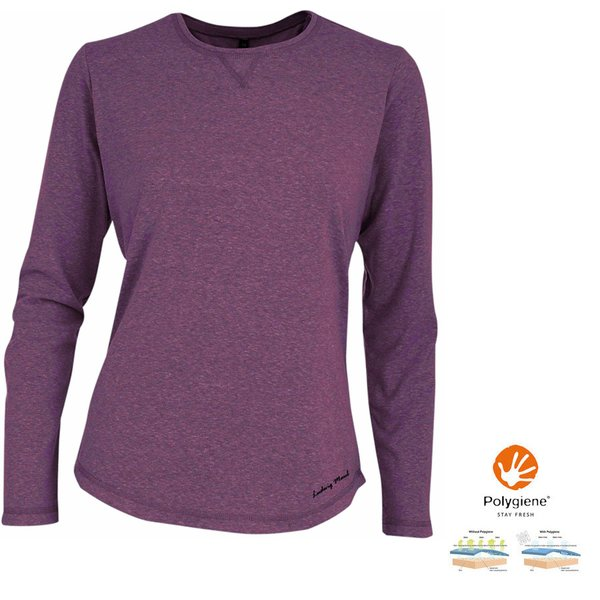 Maul - Damen Funktionsshirt Bali 2 Longshirt, purple
