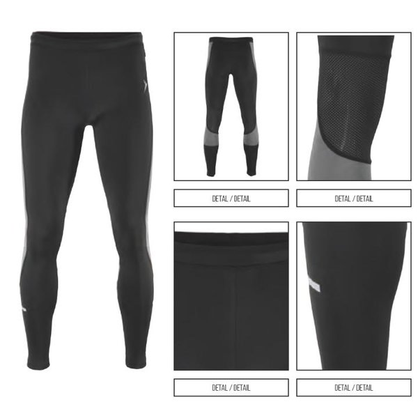 Outhorn - quick dry active 2018 - Herren lange Laufhose - schwarz