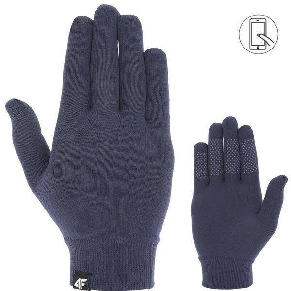 4F - dünne Fleece Handschuhe - Winterhandschuhe, navy