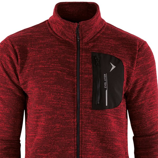 Outhorn - Herren Duo Pocket Comfy - Fleece- Sportjacke - rot melange