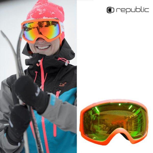 Repubic - Z35 Skibrille - Damen Schneebrille - weiß