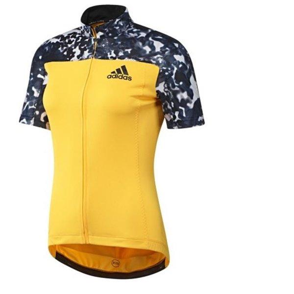 Adidas- Trailrace SS Jersey - Damen Radtrikot - neonorange - schwarz