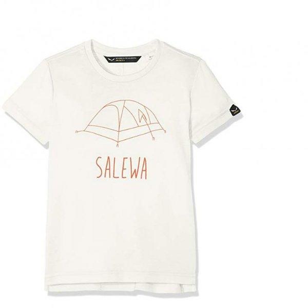 Salewa Kinder Frea Melange Dry K S/S Tee T-Shirts, creme weiß, 128
