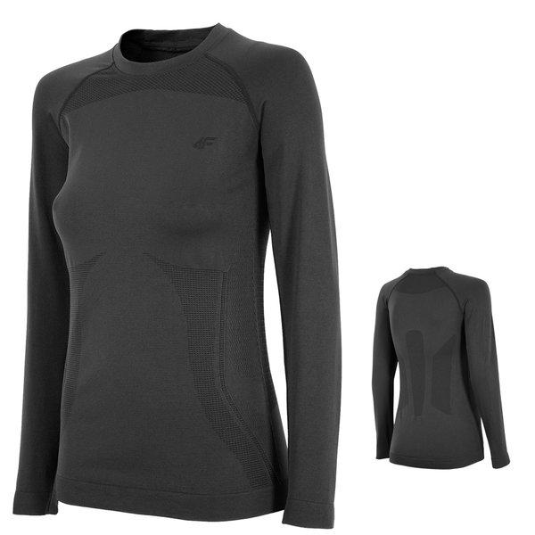 4F - Damen Funktionsunterwäsche 2018 - Langarmshirt - schwarz