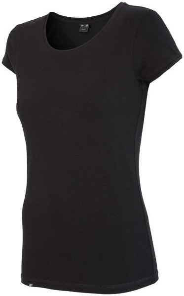 4F- Damen Basic T-Shirt 2018 - Baumwollshirt - schwarz