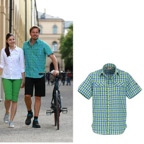 Maul - Tranby - Herren Funktions- Kurzarmhemd - grün/blau