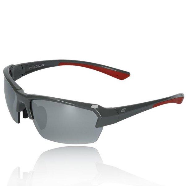 4F - Sportbrille Sonnenbrille Bike Brille - REVO Gläser UV 400 - S2 grau