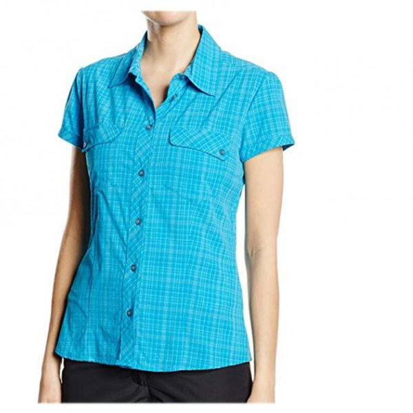 SALEWA Damen Bluse 2.0 Dry W Short Sleeve Shirt, blau L/40