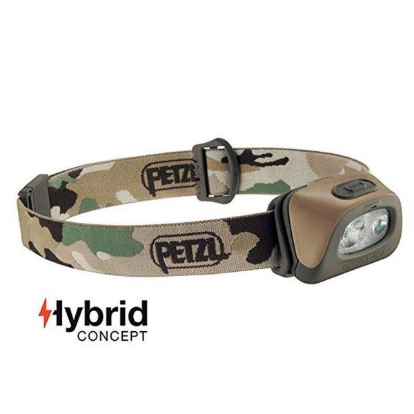 Petzl Tactikka+RGB Stirnlampe JAGD Fischen - 250 Lumen mit Rotlicht - Camouflage