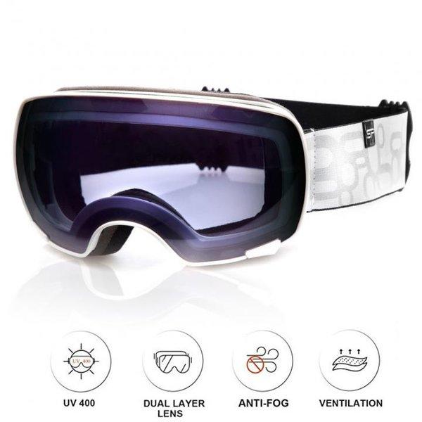 SPOKEY - YOHO Skibrille Snowboard Brille UV-Schutz Schneebrille - Anti-Fog - weiß blau