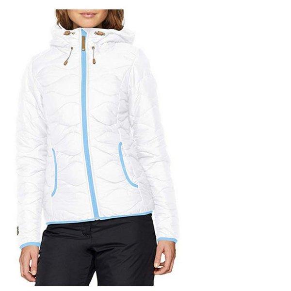 ICEPEAK - Damen Herbstjacke wattierte warme Outdoorjacke - weiß