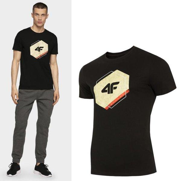 4F - Herren Sport T-Shirt - schwarz