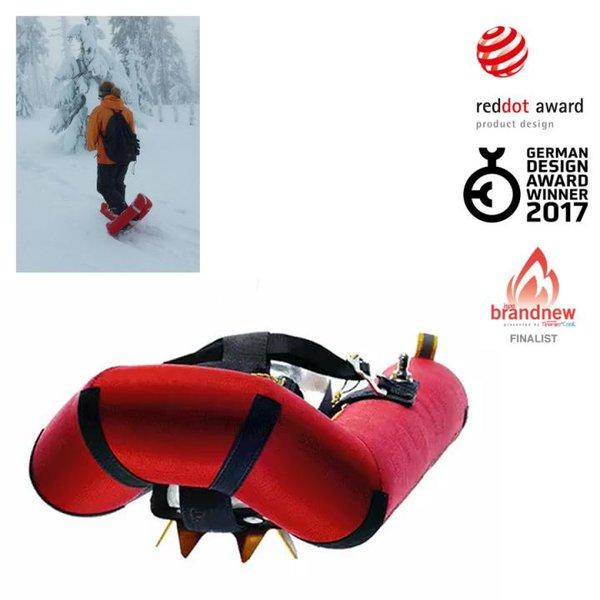 Small Foot - aufblasbare Schneeschuhe, rot