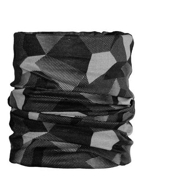 ARECO - Multifunktions-Halstuch BASIC Schal - grau