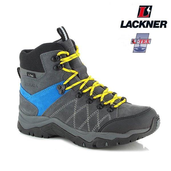 Lackner - Montafon TX - Leder Wanderschuhe - grau blau