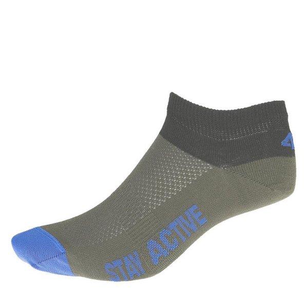 4F - Coolmax Sneaker Sportsocken - grau blau