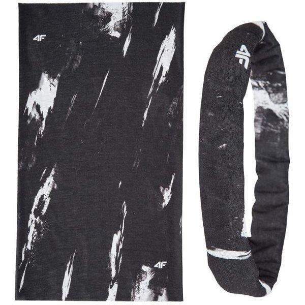 4F - Multifunktionsschal - Skimaske Halsband Rundschal - 12in1 - schwarz