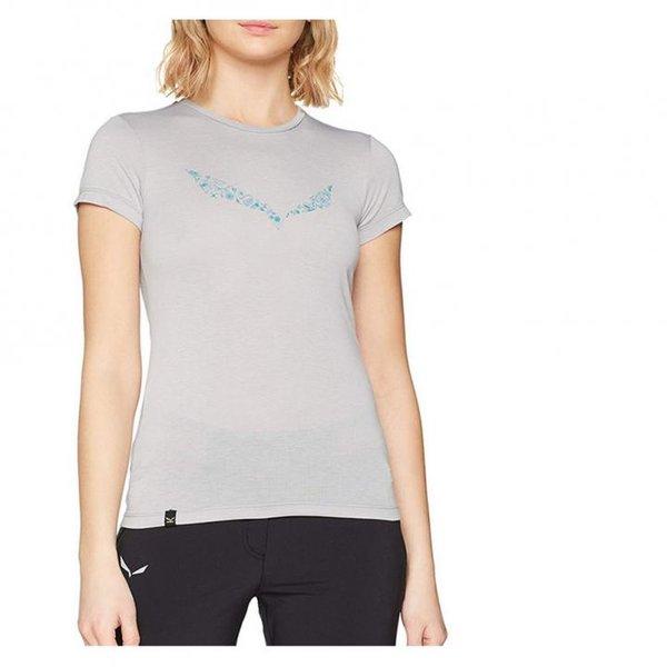Salewa Damen Solid Dri-rel S/S Outdoor Wander T-Shirt - grau - 36 S