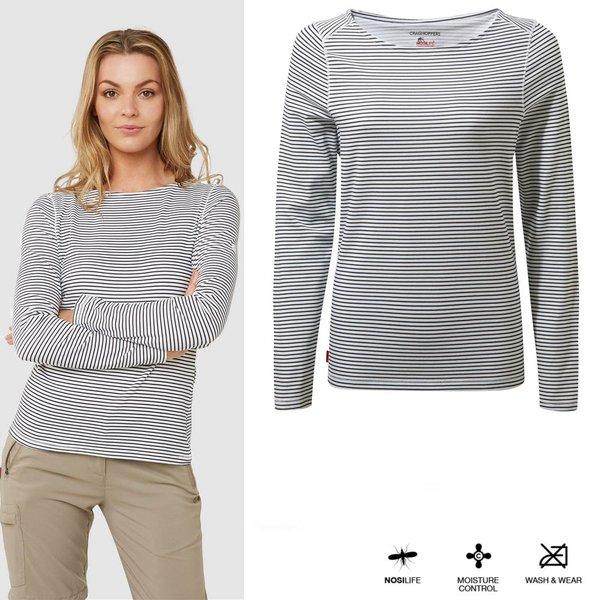 Craghoppers - NosiLife Erin - Damen Shirt - navy weiß gestreift
